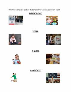 Ficha interactiva Election Day Vocabulary