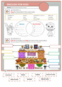 Interactive worksheet Day of the dead