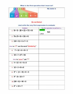 Interactive worksheet Order of Operation - Which one comes first?