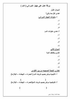 Interactive worksheet ورقه عمل