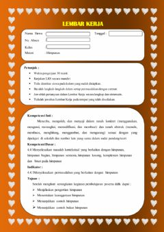 Interactive worksheet Lkpd 1 pengertian himpunan