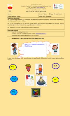 Interactive worksheet Letra V