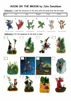 Interactive worksheet -ROOM ON THE BROOM- by Julia Donaldson