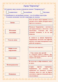 Interactive worksheet Хаврошечка