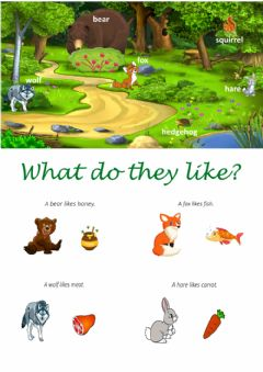 Interactive worksheet What do they like?