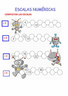 Interactive worksheet Escalas numericas