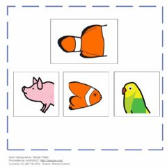 Interactive worksheet Quale parte manca-animali