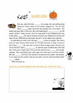 Interactive worksheet Scary Story