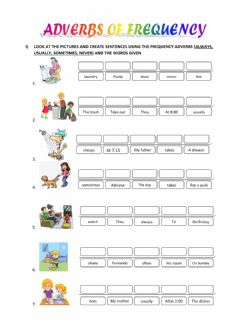 Interactive worksheet Adverb of Frequency