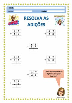 Interactive worksheet Resolva as Adições