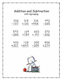 Interactive worksheet 3 digit addition and subtraction