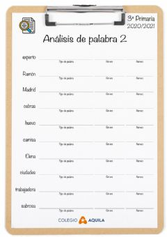 Interactive worksheet Analisis-palabras-02