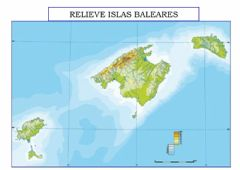 Interactive worksheet Relieve Islas Baleares