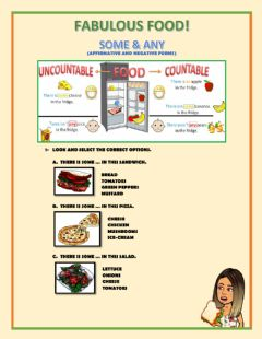 Interactive worksheet Faboulous Food! Some&Any