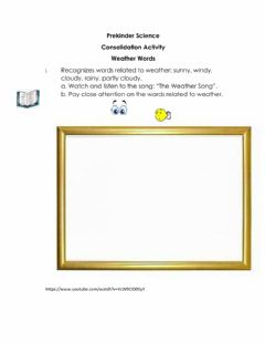 Interactive worksheet Recognize words related to weather