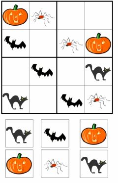 Interactive worksheet Sudoku Halloween