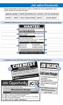 Interactive worksheet Job Search Process: Job Advertisements
