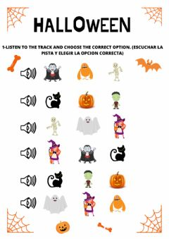 Interactive worksheet Halloween monsters