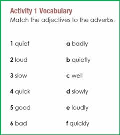Interactive worksheet Adverb of manner