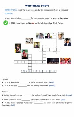 Interactive worksheet Who were they?