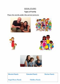 Interactive worksheet Types of family