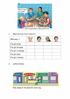 Interactive worksheet Lunchtime page 51