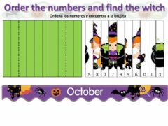 Interactive worksheet Find the witch count by 10 puzzle