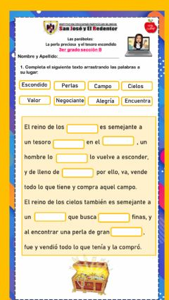 Interactive worksheet Parábolas