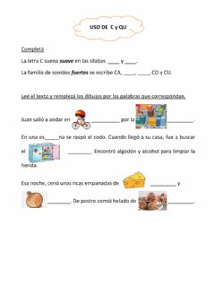 Interactive worksheet Uso de C y QU
