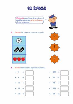 Interactive worksheet Triple