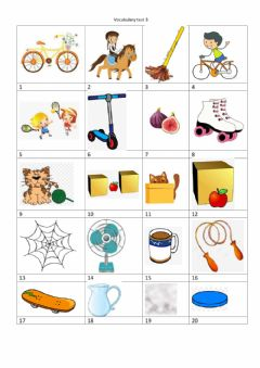 Interactive worksheet Vocabulary test Unit 3 Family and friends 2