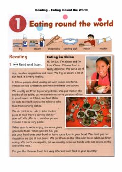 Interactive worksheet Reading - Eating around the world