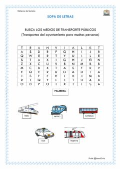 Interactive worksheet Transportes Públicos
