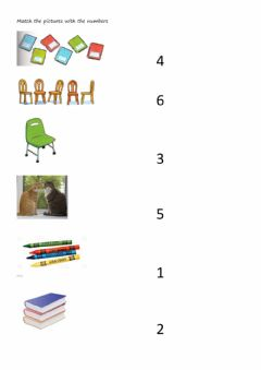 Interactive worksheet Numbers 1-6