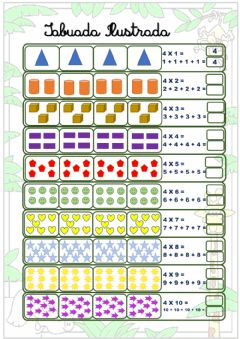 Interactive worksheet Tabuada de multiplicação do 4
