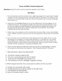 Interactive worksheet Cause and Effect Graded Assignment