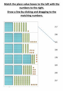 Interactive worksheet Place value matching