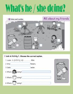 Interactive worksheet What's he she doing?
