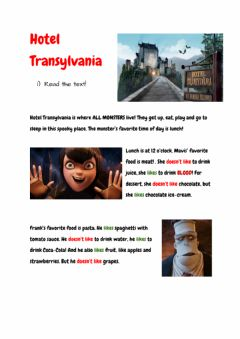 Interactive worksheet Hotel Transylvania