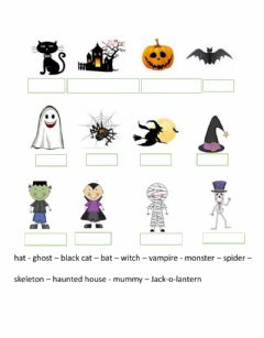 Interactive worksheet Halloween vocabulary