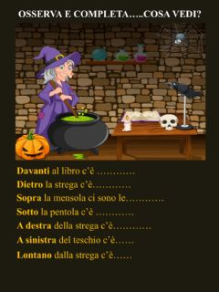 Interactive worksheet Halloween witch