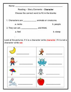 Interactive worksheet Story Elements - Character