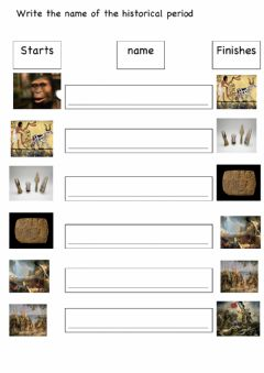 Interactive worksheet Historical periods