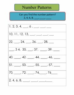 Interactive worksheet Number pattern