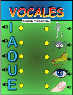 Interactive worksheet Vocales