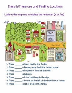 Interactive worksheet There is-are and Finding Locations Quiz