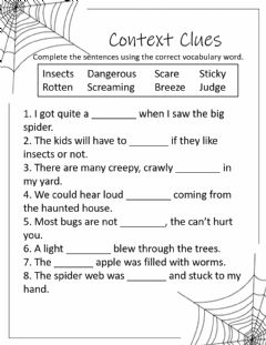 Interactive worksheet Diary of a Spider Vocabulary