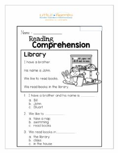 Interactive worksheet Reading The Library
