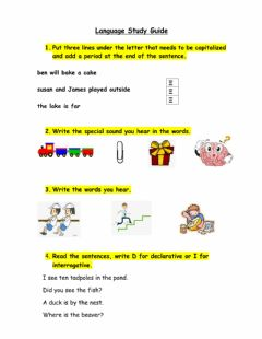 Interactive worksheet Language Study Guide 1