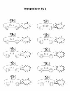 Interactive worksheet Multiply by 3